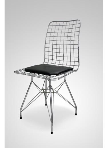 Chic Life Chic Life Gümüş Tel Sandalye Gümüş